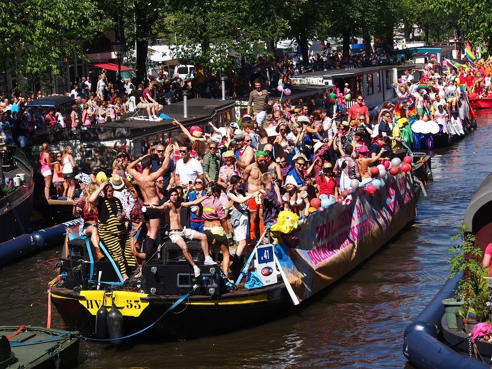 Amsterdam gay pride boat