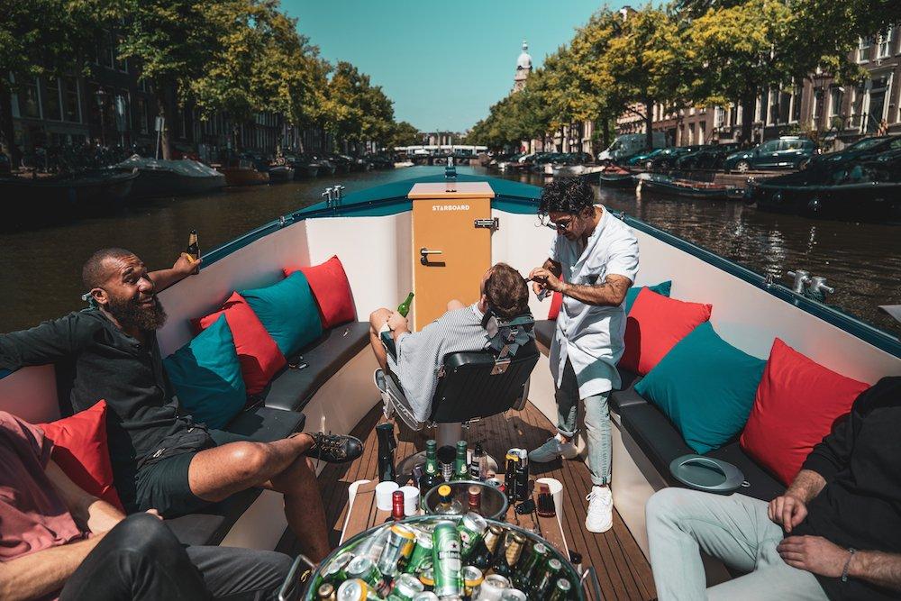 Amsterdam barber boat